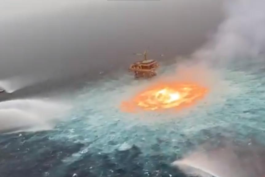 Screenshot Gulf of Mexico fire