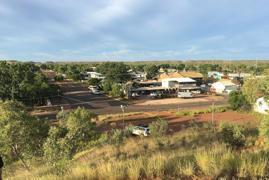 An aerial view of the town of Tennant Creek.