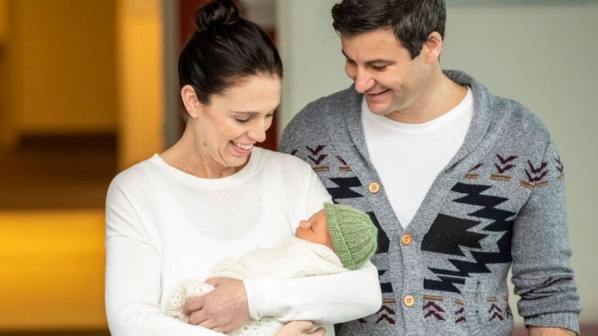 """Jacinda Ardern and Clarke Gayford say their daughter's birth was """"all a bit of a blur""""."""