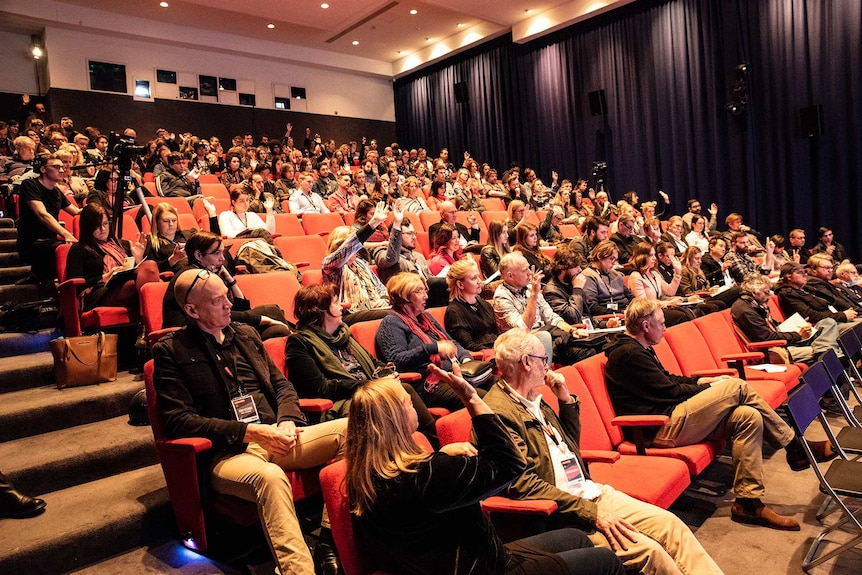 Audience at Screen Makers Conference 2018