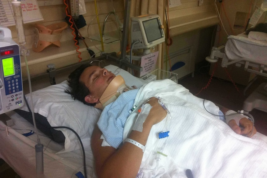 Jake Howe spent two weeks in hospital following his accident before he was shifted to a rehabilitation centre