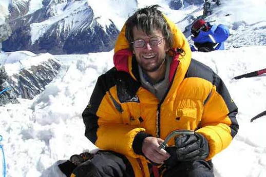 Lincoln Hall at 8,600m on Mount Everest on the morning of May 26, 2006.