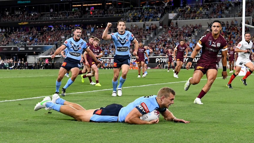 Queensland focus on stopping NSW hat-trick hero Tom Trbojevic for game two after Origin thrashing – ABC News