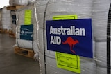 Australian emergency foreign aid pallets
