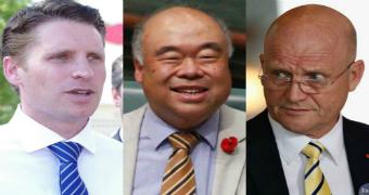 WA Liberals Andrew Hastie and Ian Goodenough, and Liberal Democrat Senator David Leyonhjelm.