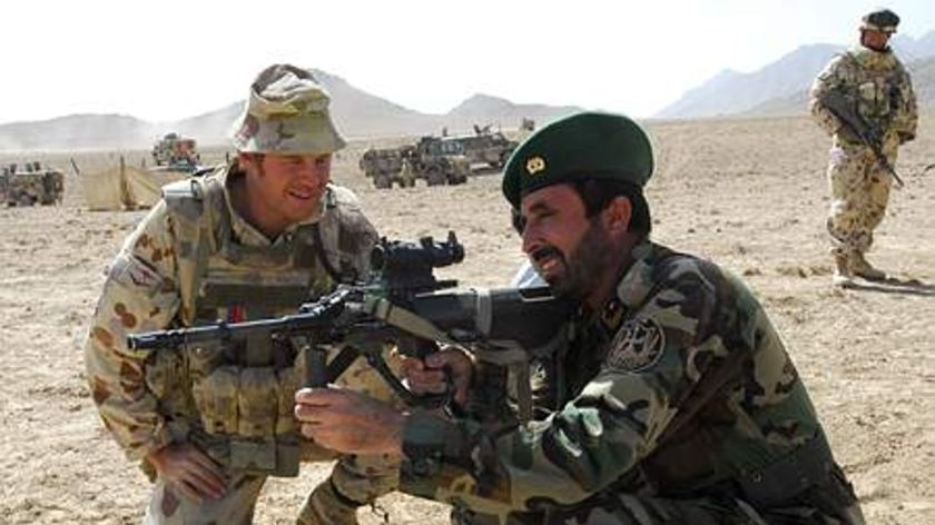 Australian troops support and mentor Afghan soldiers but obstacles remain.