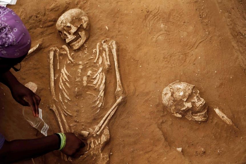Skeletons of ancient Philistines excavated in Israel