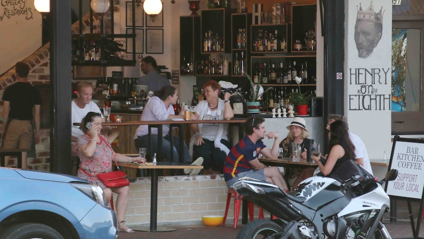 Locals spend an evening out on the Maylands strip in Perth.