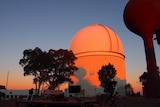 The Anglo-Australian Telescope at sunset.