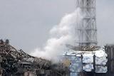 Smoke rises from Fukushima nuclear plant