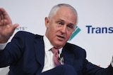Prime Minister Malcolm Turnbull speaking at the Australian Financial Review Business Summit