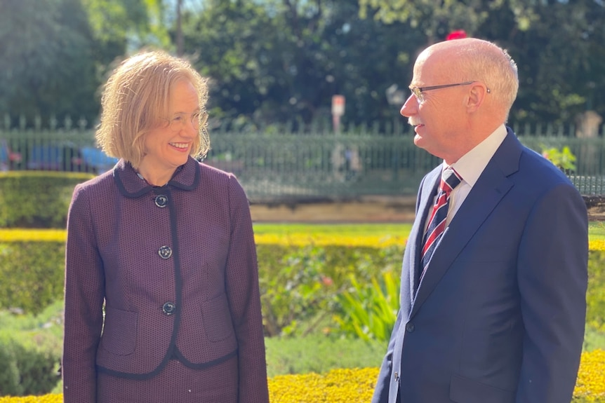 Queensland's next governor Dr Jeannette Young and husband Professor Graeme Nimmo