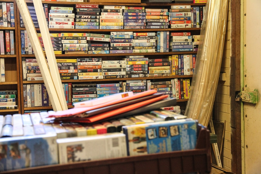 A snap of 1,000 VHS tapes
