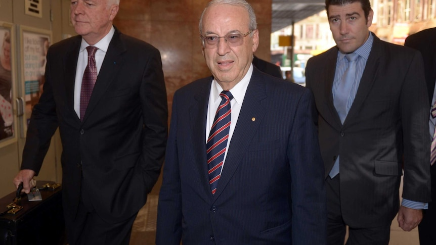 Former New South Wales Labor Minister Eddie Obeid arrives at the Independent Commission Against Corruption (ICAC) in Sydney