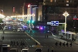 Police cordon off Chinese train station