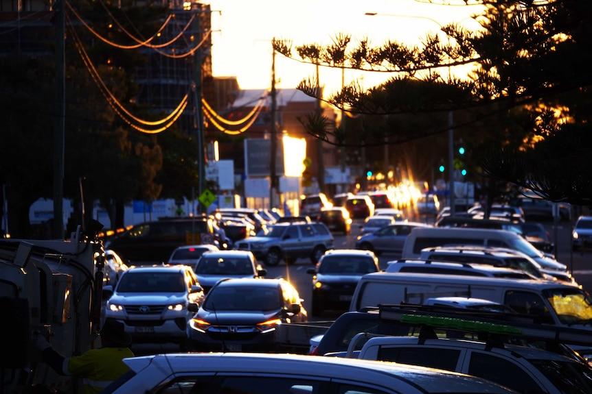 busy street full of cars