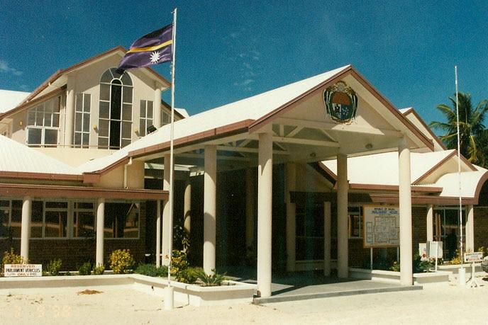 The parliament building in Nauru.