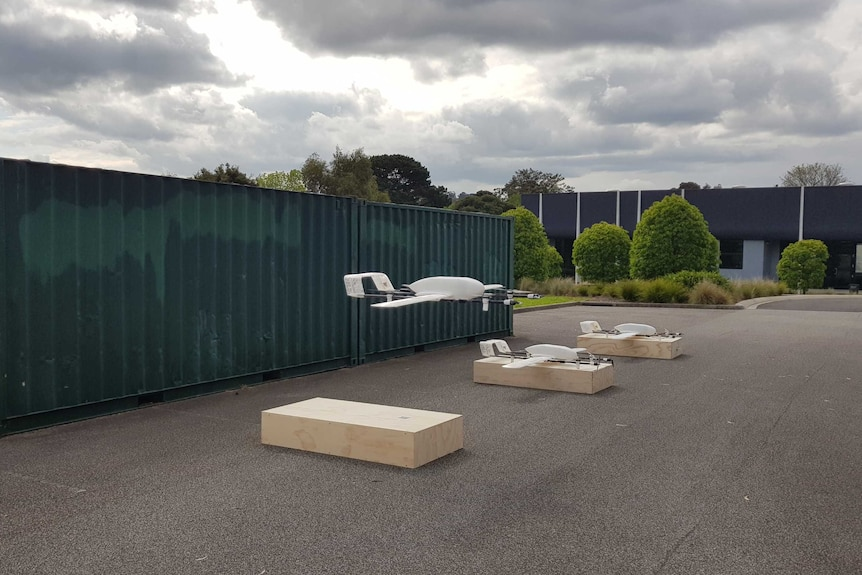 The drones that will deliver vaccines to hard-to-reach places in Vanuatu.