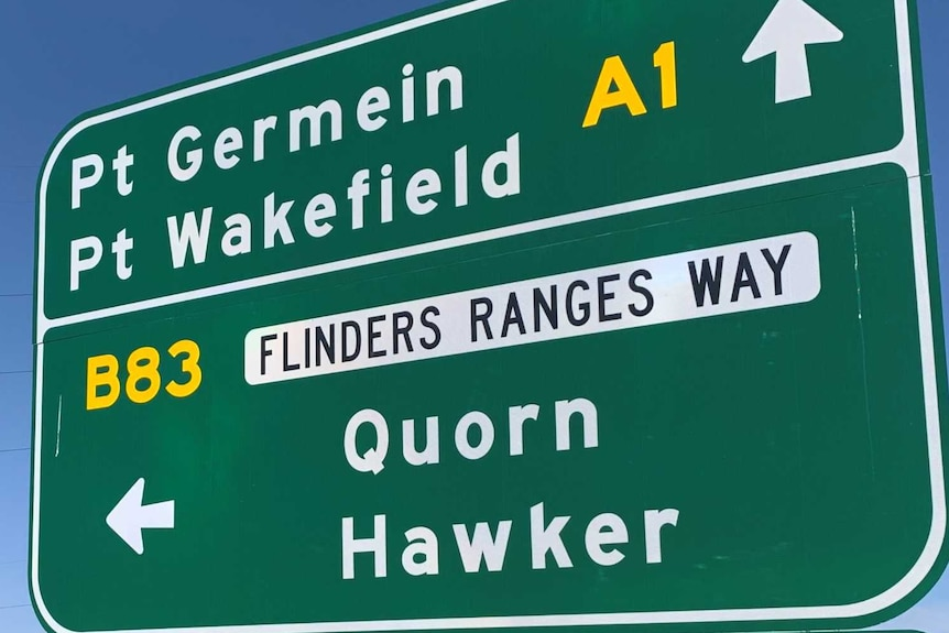 a road sign displaying the way to Quorn