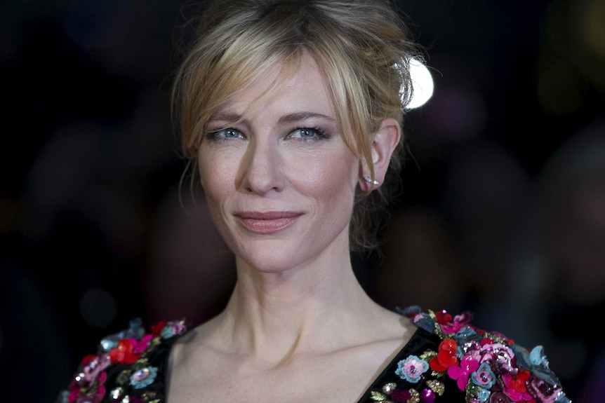 Cate Blanchett arrives at a gala screening of her film Truth at the BFI London Film Festival