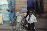 Miles Wootten in Rwanda as peacekeeper