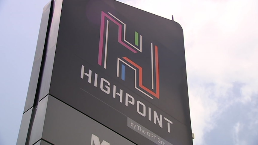 A logo at Highpoint shopping centre, in Maribyrnong, in Melbourne.
