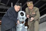 Kim Jong Un inspects a Korean People's Army unit