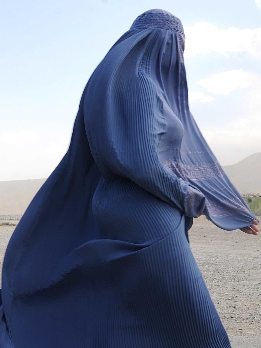 Afghan woman in a burqa