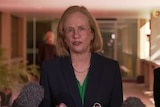 Queensland's Chief Health Officer Jeannette Young speaks about COVID-19 at Parliamentary precinct