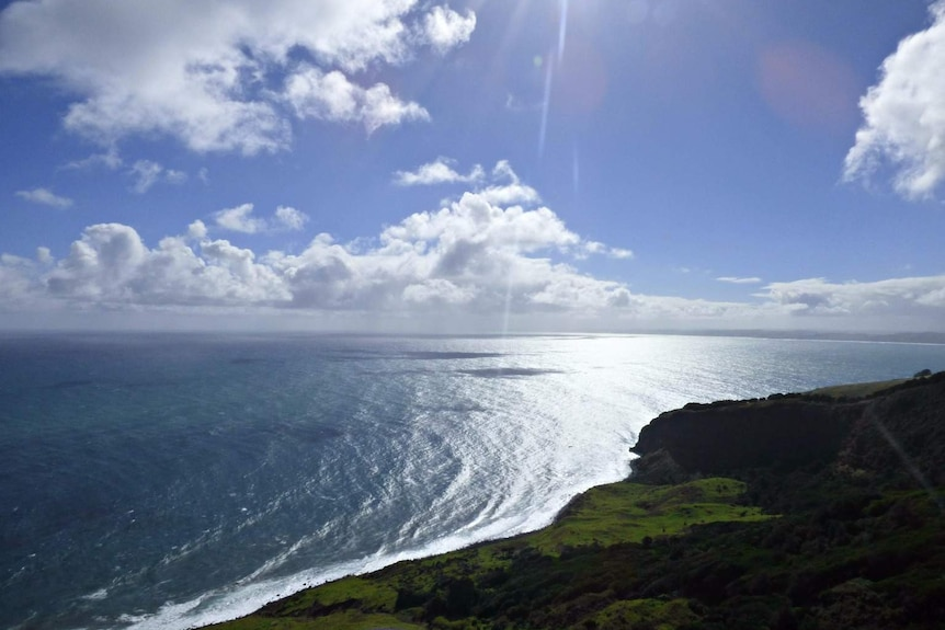 Ocean views on the the west coast of New Zealand.