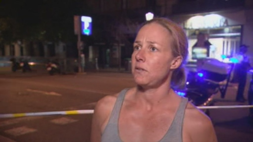 Sydney woman Lauren Grundeman was in the area at the time of the attack.