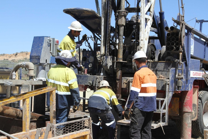 Drilling crew at work