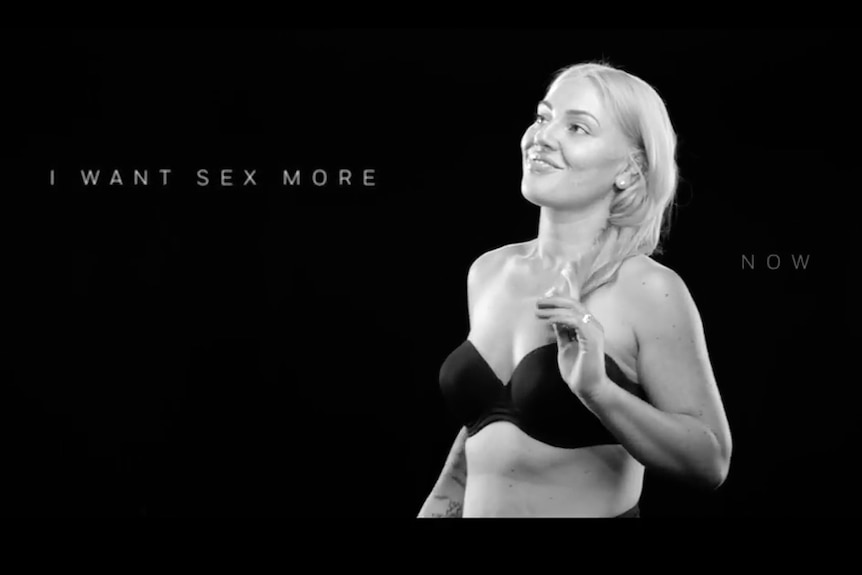 A still from the Weight Watchers 'Black' campaign video.