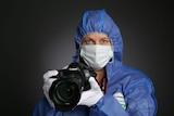 Sergeant Kylie Blumson in CSI gear