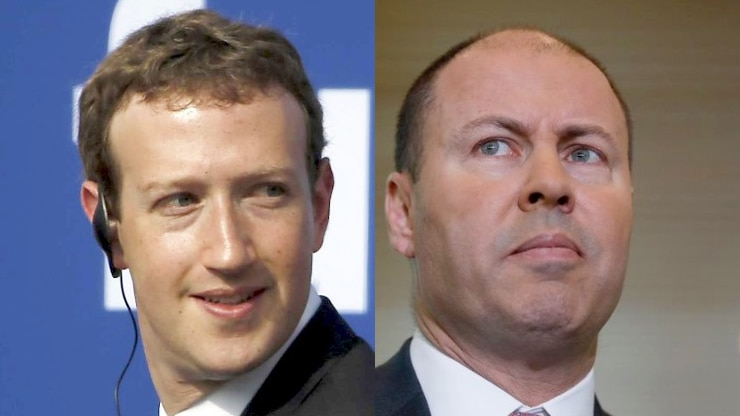 Play Audio. A composite of Mark Zuckerberg and Josh Frydenberg. Duration: 6 minutes 2 seconds