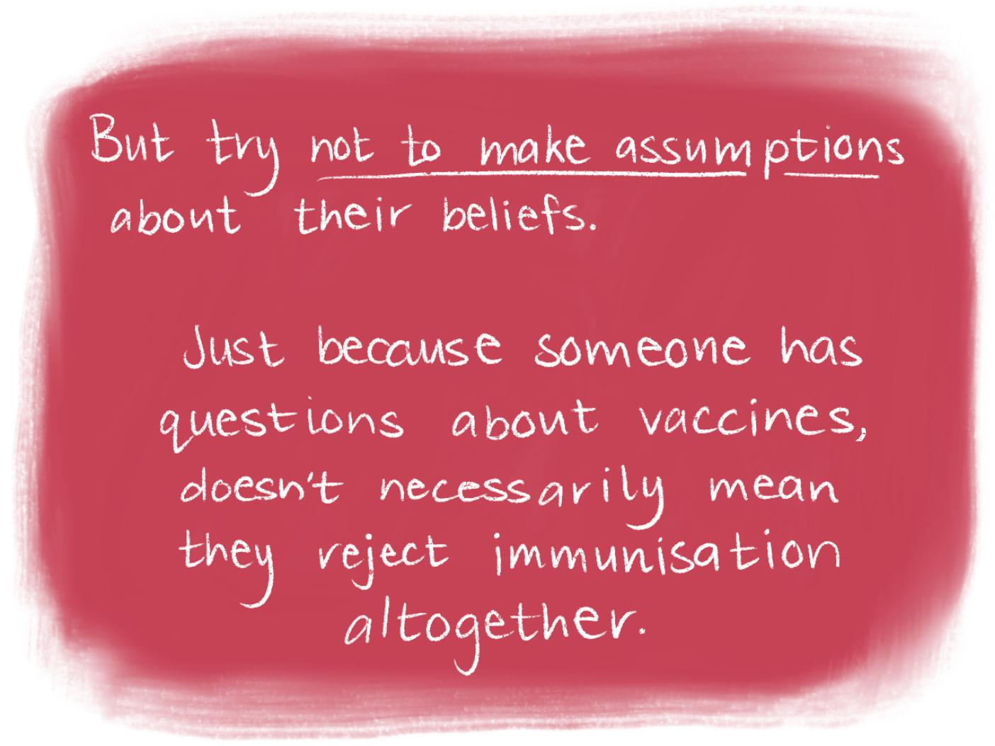 Vaccination comic scene 7 beliefs. Read the transcript below.
