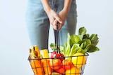 Basket of plant-based foods
