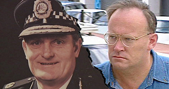 A composite image of Colin Winchester in a police portrait and David Eastman outside the ACT Supreme Court.
