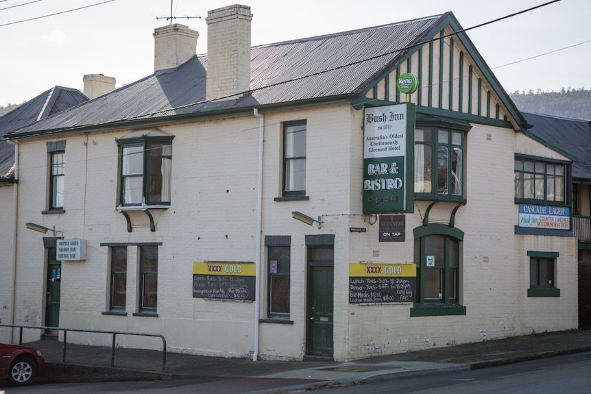The Bush Inn in New Norfolk as it stands today was built in 1815.