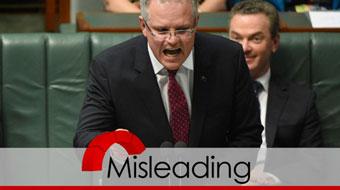 scott morrison all red verdict misleading