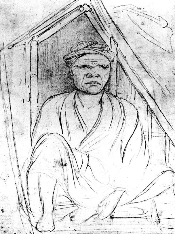威廉·韦斯特尔于1803年绘制的一幅名为Pobassoo的望加锡船长肖像画。