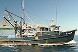 Fishing trawler on the water