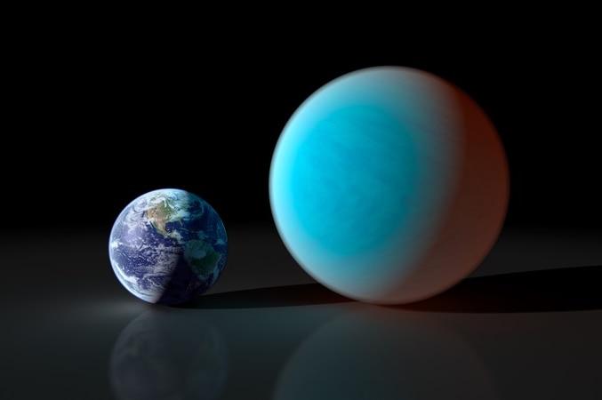 Comparison of Earth with super-Earth