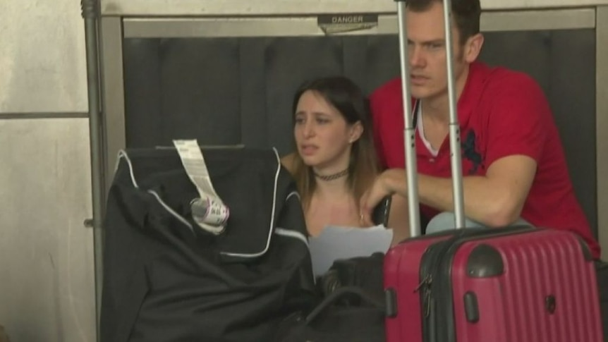 WARNING: Contains graphic footage - Australian man and American wife lucky to survive Fort Lauderdale shooting