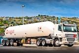 An Origin Energy LPG tanker truck.