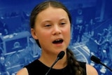 Greta Thunberg delivers speech at National Assembly in Paris