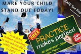 A montage of offers for gifted and talented tutoring courses.