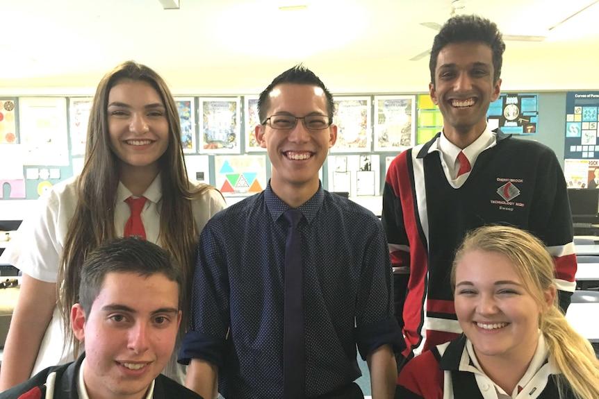 Eddie Woo with students
