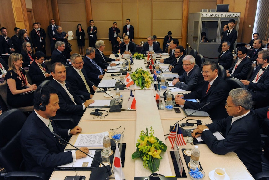 Ministers meeting to strike a TPP agreement