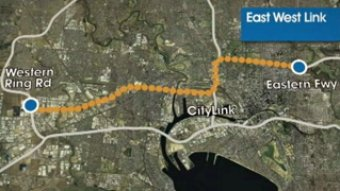 East-West Link map